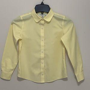 Brooks Brothers Boys Yellow Oxford Shirt Size 8